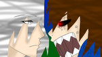 Netriki And Glitchriki Fighting by tailsdollfangirl