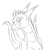 oc dragon line art-free to use by ROXDragonz