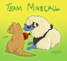 Art Trade - Team Minecall by tiakaneko