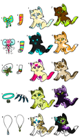 Kitten Point Adopts! Buy one, get a free item! by Moon-DaZzLe