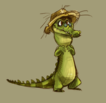 Another Fishercroc doodle by Frozenspots