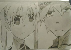 Maka And Soul - Soul Eater. by WhelaHD