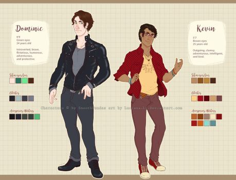 Reference sheer commission: Kevin and Dominic by Luciana-Lu