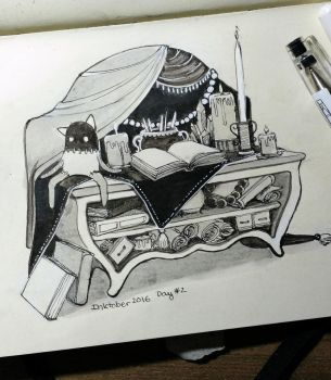 Alter - Inktober Day 2 by stasiaarts