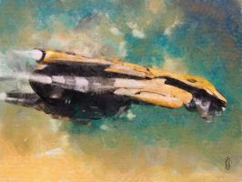 SpaceShip from E.v.a.2 by marcoturini