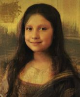 Myself as the Mona Lisa by 666squirrelOFdeath