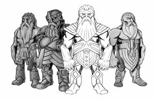 Mostali Dwarves by seanwthornton