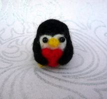 Fuzzy Penguin Needle Felt! by StarlitCutesies