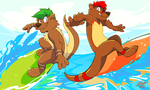 Otter the way, surfs up! by super-tuler