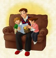 Dad and Kids by ketari