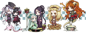 ::chibi comm set7:: by rann-poisoncage