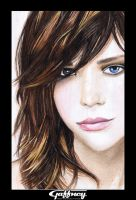 Colored Pencil Brunette by theGaffney