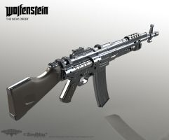 Assault Rifle 1946 Highpoly model by panick