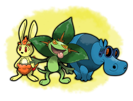 Alpha/Beta Starters! by bromos-pokemon