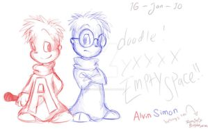 Doodlez : Alvin and Simon by Cha0zGallAnT