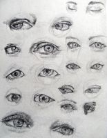 Sketch - Eyes Study by YUKU5U3
