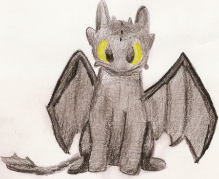 Toothless Drawing by Hibouette