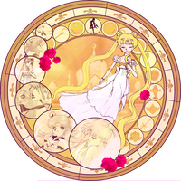 KH Stained glass- Serenity by CL-Pinkskull