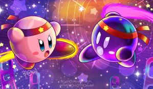 Kirby VS Shadow Kirby by Blopa1987