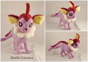 Shiny Vaporeon Poseable Plush! by Charlottejks