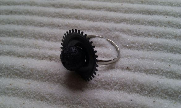 Volcanic Gear Ring by aequinox