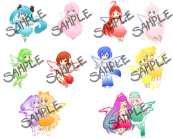 Chibi Vocaloid Key-chains by MulberryDreamer