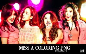 Miss A Coloring PSD by luxicity