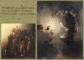 A Lonely Man And A Lonely Dragon. by 01rosso