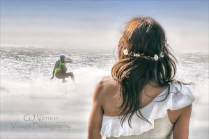 Water Skier from a Jetty by GJ-Vernon