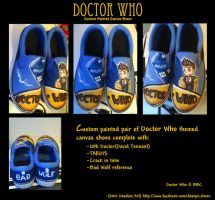 Custom Painted Doctor Who Shoes by desolim
