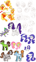 MLP sketches by loneyqua