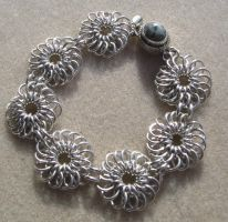 Silver Chrysanthemum Chain by shazzabeth
