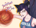 Basketball Ahri by UsagiPyon19