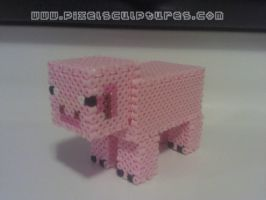 3D Pig from Minecraft by PixelSculptures
