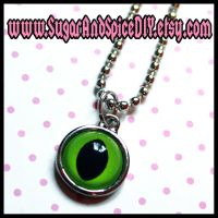CREEPY CUTE Monster Eye Charm by SugarAndSpiceDIY
