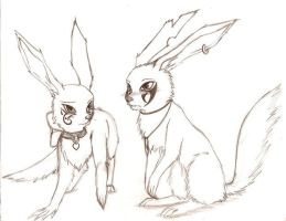 little rabbit couple by spagetti-sauce