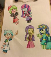 My fav Equestria background characters by Imtailsthefoxfan