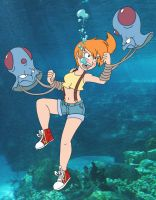Misty In Peril By Underwatertoons color by Akira-Devilman666