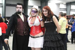 Harley Quinn and Dracula by VoiceofSupergirl