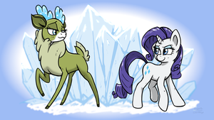 Ice to meet you, deer! by CorsairsEdge