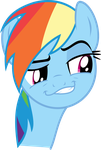 Rainbow Dash Smirk by haratofu