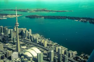 Aerial shot of Toronto's Skyline by Mi-Ciello