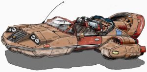 Sci-Fi Hovercar by taalismn