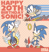 Happy 20th Birthday Sonic by GagaMan