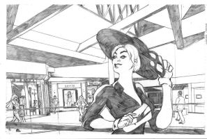 Black Cat at the Mall by dtor91