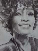 whitney houston by iridah