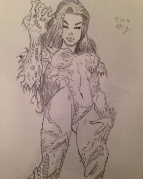 Marc Silvestri Art Study and Inking Practice by MichaeltheArchangel1
