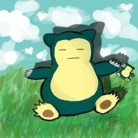 Snorlax Needs a Vacation by CHR0NIE