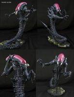Custom SNES Snake Alien action figure by Jin-Saotome