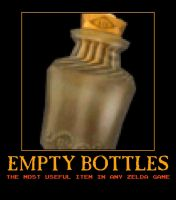 Zelda empty bottles demotivational poster by Dbgtinfinite